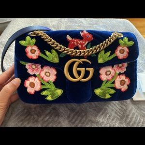 Gucci Marmont Small Velvet Bag, Deer